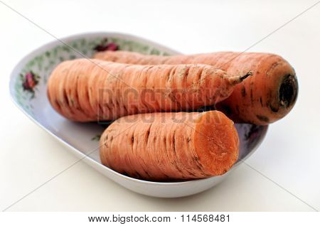 Fresh Carrot On A Plate