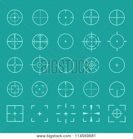 Gun crosshairs vector set