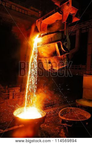 Industry, Steel Mill, Factory, Foundry, Molten