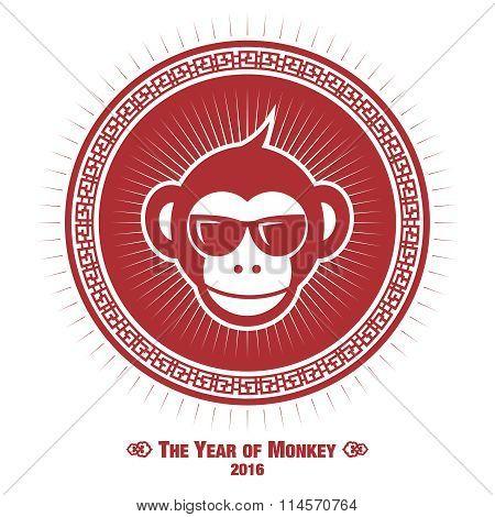 Vector Creative Fusion Style Monkey of Year Illustration