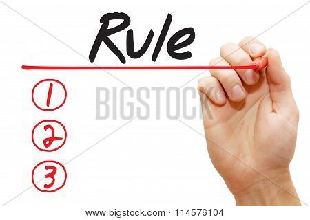 Hand Writing Rule List, Business Concept..