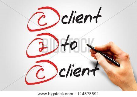 Client To Client (c2c) business concept acronym poster