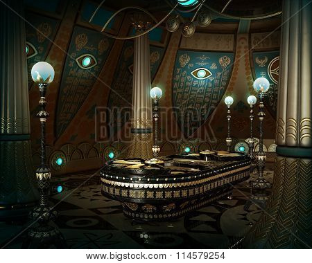 The Sarcophagus Room, 3D Cg