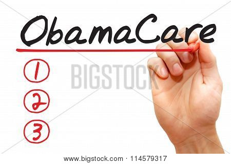 Hand Writing Obamacare List