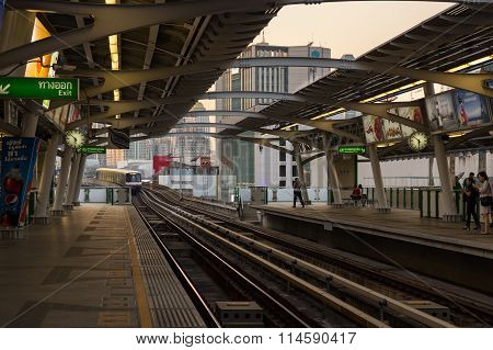 Bts Train Arriving At Station