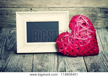Big Red Heart And Blackboard