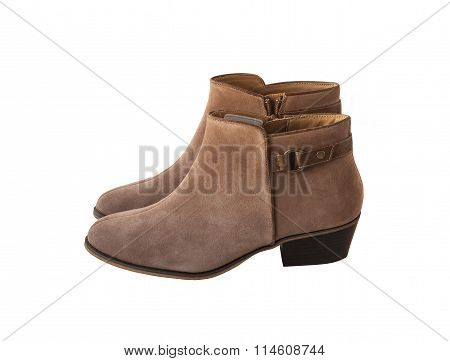 Beige Female Shammy Boot