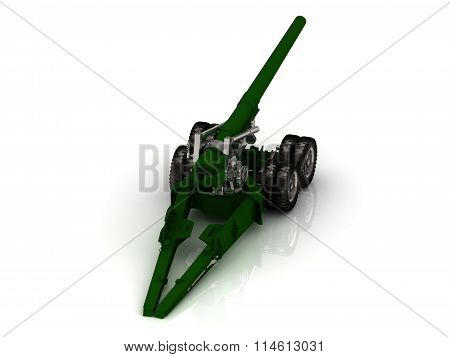 Howitzer Green And Silver Closeup