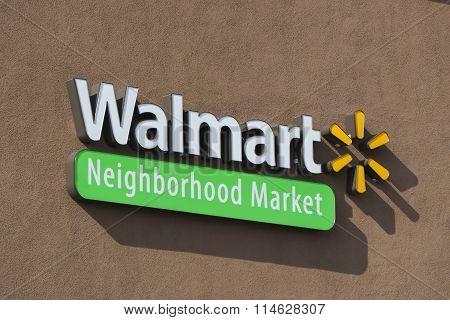 Walmart Neighborhood Market Sign And Logo