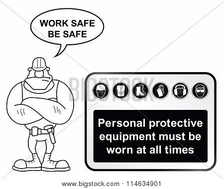 Black Health and Safety sign