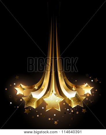 Five Gold Comets