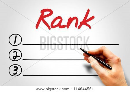 Rank Blank List