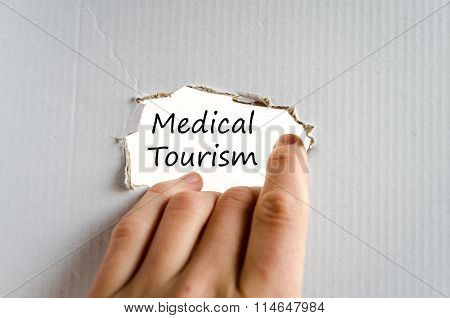 Medical Tourism Text Concept