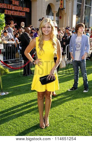 LOS ANGELES, CALIFORNIA - August 6, 2012. Olivia Holt at the Los Angeles premiere of 'The Odd Life Of Timothy Green' held at the El Capitan Theater, Los Angeles.