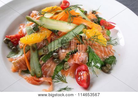 Salmon Salad With Orange