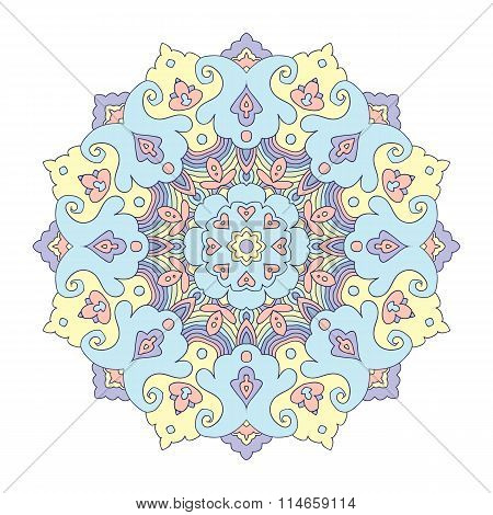 Flloral Mandala, White Background