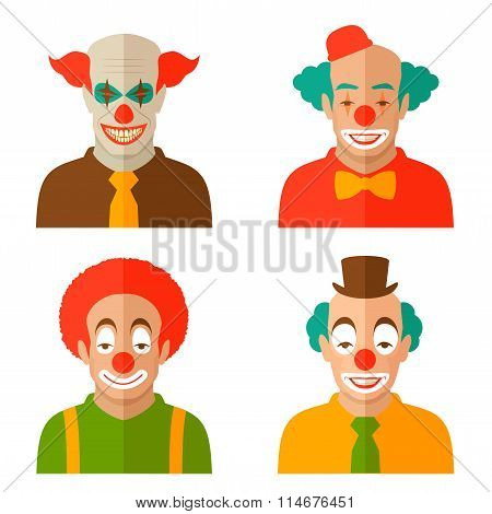 clown cartoon face