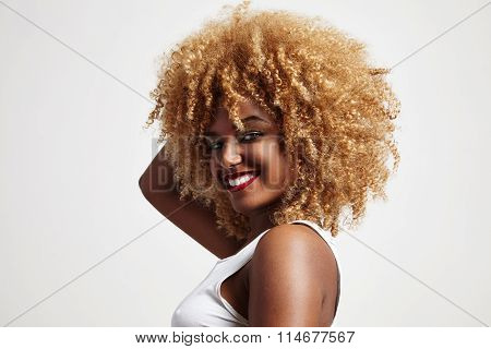 Blondy Afro Hair Woman