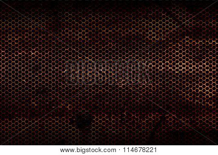 Black Metallic Mesh Background Texture