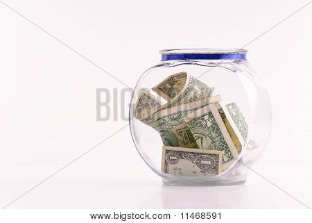 Swear Jar Filled With Money
