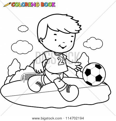Coloring book Soccer Kid