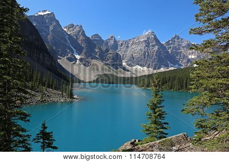 Framed Lake Moraine