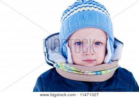 Portrait Of A Child In Winter