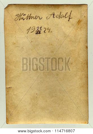 The back of photo with date December 21 1924.