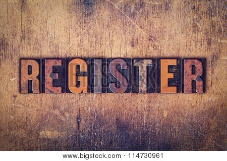 Register Concept Wooden Letterpress Type