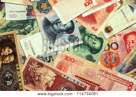 Chinese currency RMB background