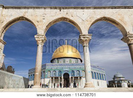 Dome On The Rock On Temple Mount. Jerusalem. Israel.
