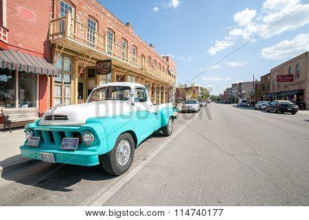 Restored Studebaker Truck In Main Street Hannibal Missouri Usa