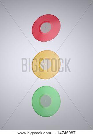 Colorful Vinyl records