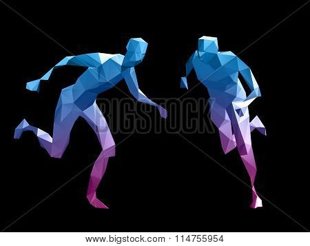 Colorful 3D Abstract Male
