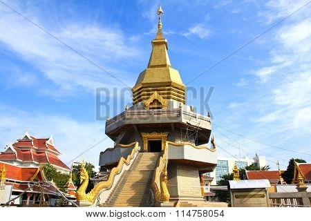 Thai Temple, Wat Phothisompom At Udonthani, Thailand.
