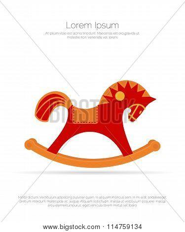 Wooden chair rocking horse.