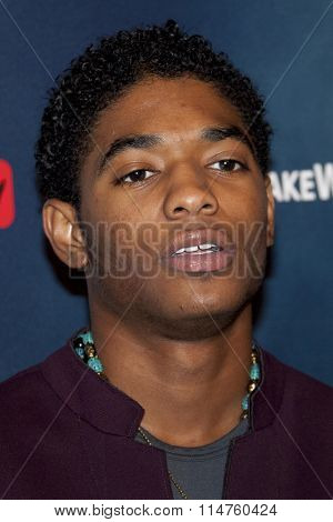 vLOS ANGELES - JAN 14:  Nadji Jeter at the The 5th Wave Los Angeles Premiere at the Pacific Theatres At The Grove on January 14, 2016 in Los Angeles, CA