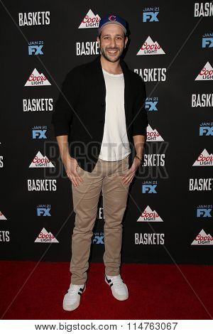 vLOS ANGELES - JAN 14:  Desmin Borges at the Baskets Red Carpet Event at the Pacific Design Center on January 14, 2016 in West Hollywood, CA