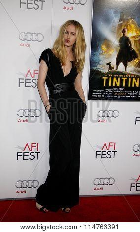 HOLLYWOOD, CALIFORNIA - November 10, 2011. Katrina Nova at the AFI FEST 2011