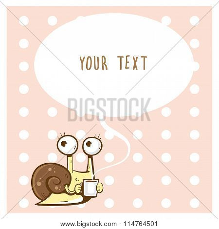 Card With  Snail.