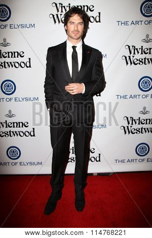 vLOS ANGELES - JAN 9:  Ian Somerhalder at the The Art of Elysium Ninth Annual Heaven Gala at the 3LABS on January 9, 2016 in Culver City, CA