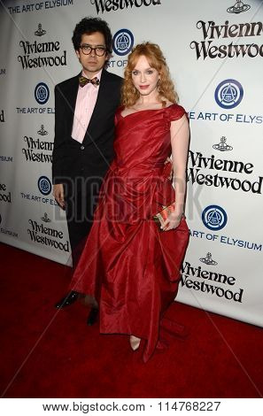 vLOS ANGELES - JAN 9:  Geoffrey Arend. Christina Hendricks at the The Art of Elysium Ninth Annual Heaven Gala at the 3LABS on January 9, 2016 in Culver City, CA