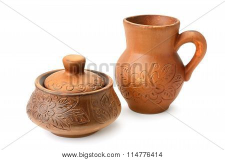 Brown Ware Isolated On White Background