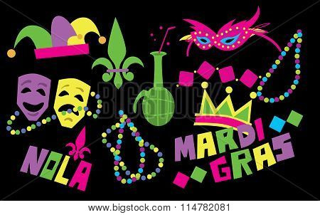 Mardi Gras Vector Icon