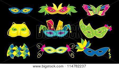 Mardi Gras Vector Illustration.