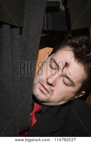 Business Man Shot In The Head In The Closet