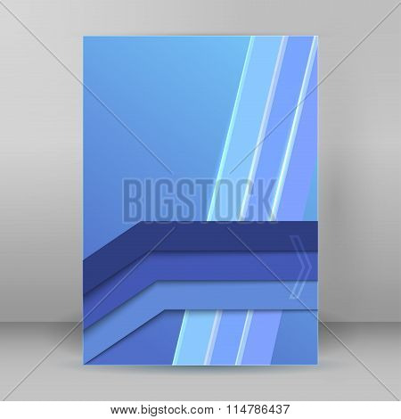 Business Brochure Design Element Page Template Blue