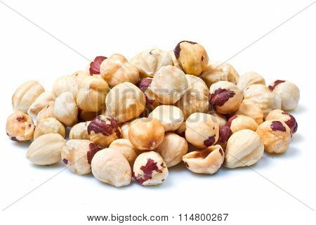Hazelnuts Isolated