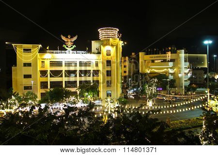 Bangkok - December 18: Decoration On Rachadamnoen Road For The Celebration Of The 88Th Birthday Of H