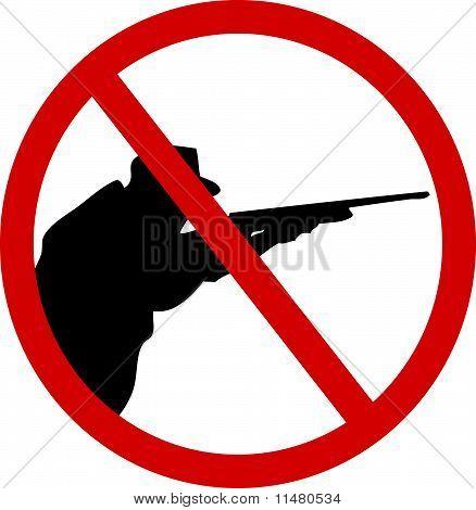 No hunting sign